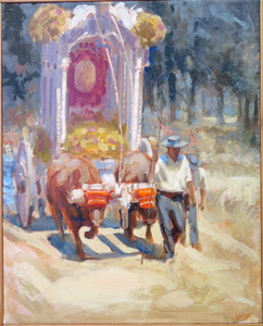 Jean Bernard LALANNE - Pittura - Le char