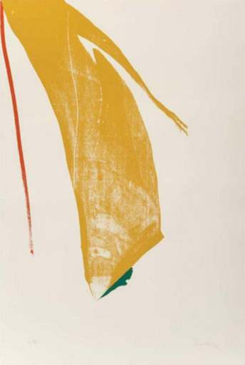 Helen FRANKENTHALER - Druckgrafik-Multiple - Untitled from ''What red lines can do''