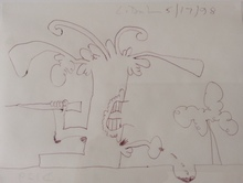 Carroll DUNHAM - Dessin-Aquarelle - Untitled - 5/17/98
