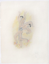 Jean COCTEAU - Drawing-Watercolor - Flamenco Dancer