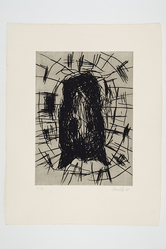 Georg BASELITZ - Estampe-Multiple - Das Pferd (Le cheval)