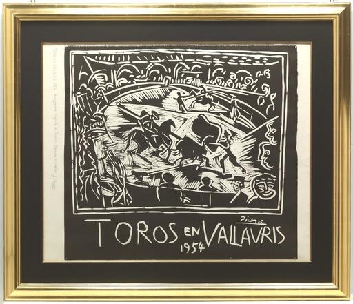 Pablo PICASSO - Grabado - Toros en Vallauris 1954