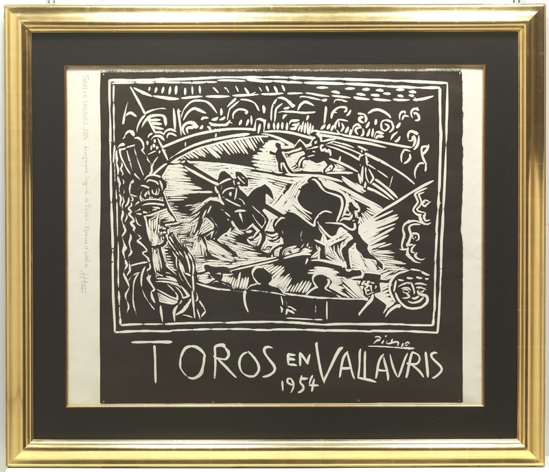 Pablo PICASSO - Stampa-Multiplo - Toros en Vallauris 1954