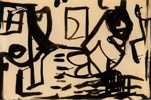 Franz KLINE - Dessin-Aquarelle - untitled