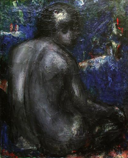 Adolphe PÉTERELLE - Pintura - Nu Art-Déco