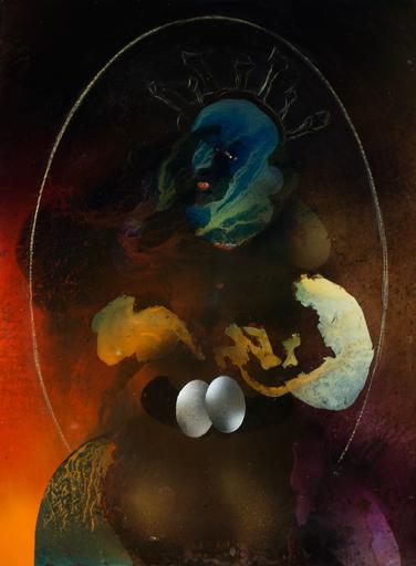 Jim DELARGE - Painting - Divine entortillée dans les pelotes de l'intrigue
