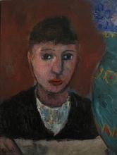 Pierre TAL-COAT - Painting - Femme au vase de fleurs