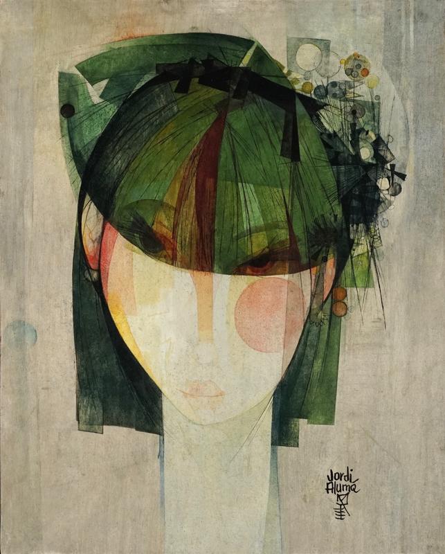 Jordi ALUMA MASVIDAL - Pintura - Retrat Femeni