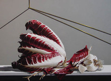 GERICO (1946) - Natura in posa (Insalata e aglio)