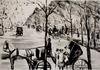 Lesser URY - Print-Multiple - venue in the Tiergarten with Carriage in the Foreground
