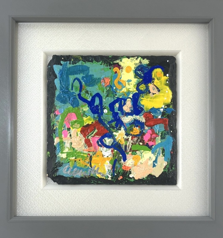 Nicole LEIDENFROST - Gemälde - Blue Flower