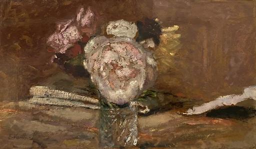 Édouard VUILLARD - Peinture - Roses dans un vase de verre