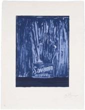 贾斯珀·约翰 - 版画 - Savarin 6 (Blue)