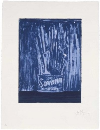 Jasper JOHNS - Print-Multiple - Savarin 6 (Blue)