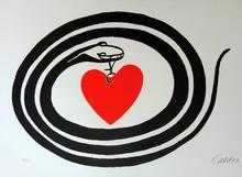 亚历山大•卡尔德 - 版画 - Serpent and Heart, from: World Heart Month