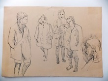 Jean SOUVERBIE - Drawing-Watercolor - GROUPE D AMIS