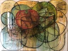 Fabrice HYBER - Peinture - Langues