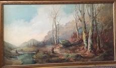 Robaldo CASALINI BALDELLI - Pintura - paysage et riviere