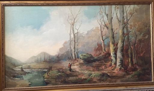 Robaldo CASALINI BALDELLI - Painting - paysage et riviere