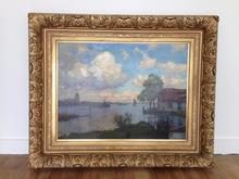 Willem Johannes WEISSENBRUCH - Painting - haven en stadszicht