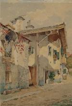"Carl MELL - Dessin-Aquarelle - ""Motive of Salzburg"" by Karl Mell, ca 1900"