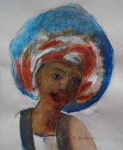Jan Peter VAN OPHEUSDEN - Dibujo Acuarela - Surinamese beauty