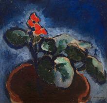 Kees VAN DONGEN - Painting - Composition à la fleur rouge