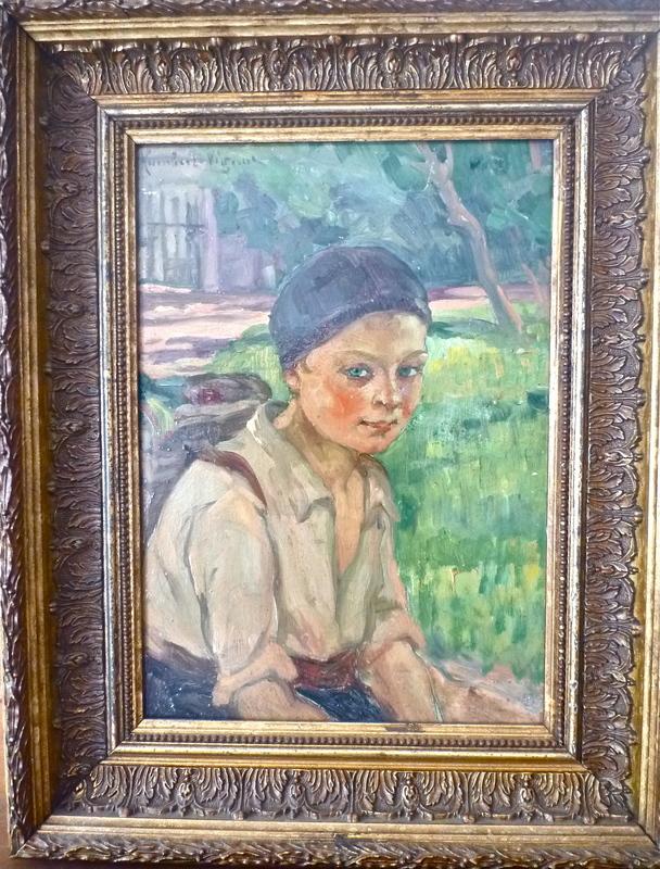 Léonie HUMBERT-VIGNOT - Painting - Portrait enfant
