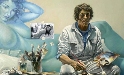 Bruno SCHMELTZ - Gemälde - Le peintre
