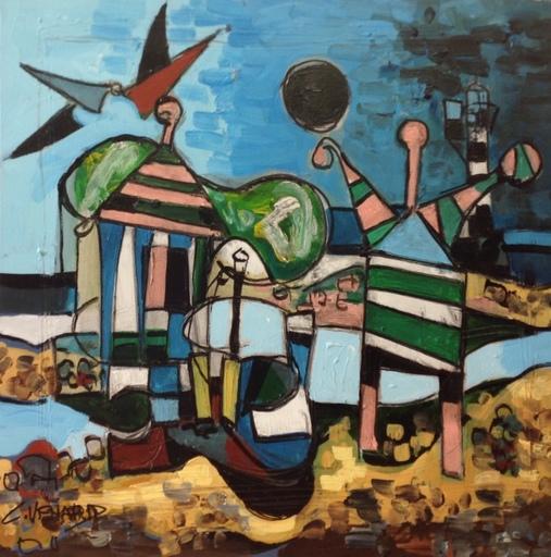Claude VENARD - Peinture - Les femmes cabines