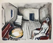 Ossip ZADKINE - Drawing-Watercolor - Intérieur