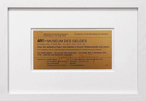 Joseph BEUYS - Grabado - Museum des Geldes