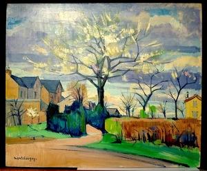 Jean MONTCHOUGNY - Painting - Arbres en fleurs