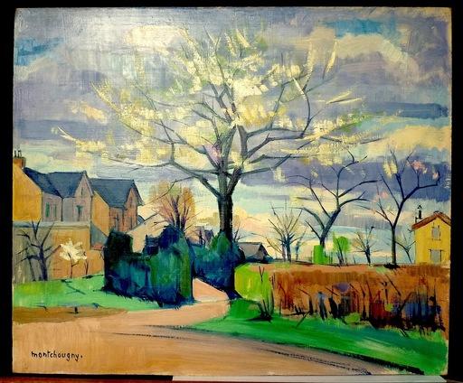 Jean MONTCHOUGNY - Pintura - Arbres en fleurs