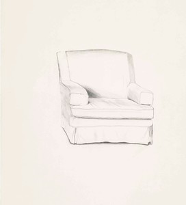 David HOCKNEY - Stampa-Multiplo - Slightly damaged chair