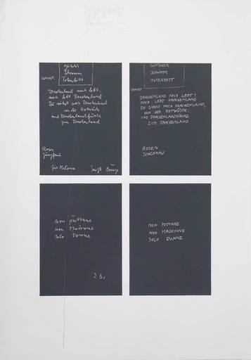 Joseph BEUYS - Print-Multiple - Gletscher Schwamm Totenbett