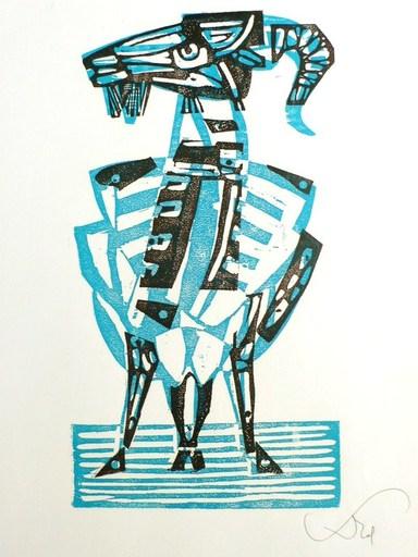 Abraham KROL - Print-Multiple - La chêvre