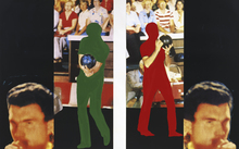 John BALDESSARI - Grabado - Two bowlers (with questioning person)