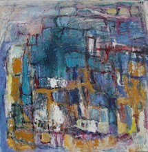 Christine Ange LEFEVRE - Peinture - Carrés avec jaunes 1