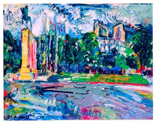 Jacqueline CERRANO - Painting - Place du trocadero
