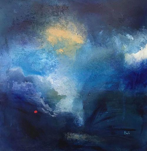 Christine BARTH MROZ - Peinture - Blue moon