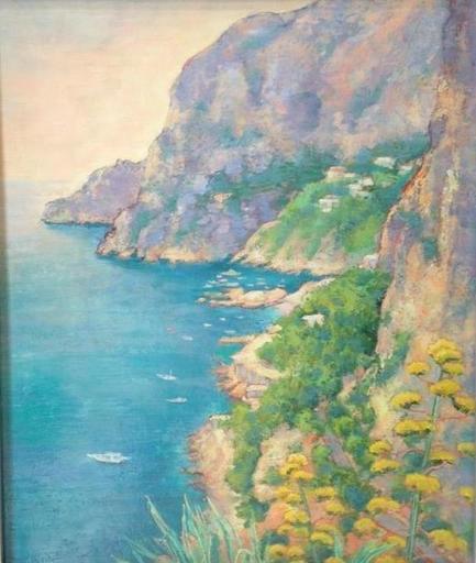 André VIGNOLES - Pintura - côte amalfitaine