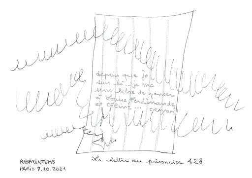 Reine BUD-PRINTEMS - Zeichnung Aquarell - La lettre du Prisonnier 428