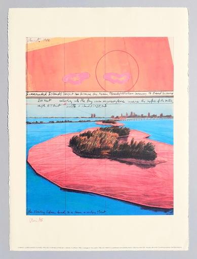 CHRISTO - Druckgrafik-Multiple - Surrounded islands, project for Biscane Bay