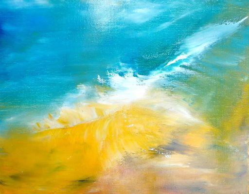 Dann AUBERT - Peinture - Souffle Jaune