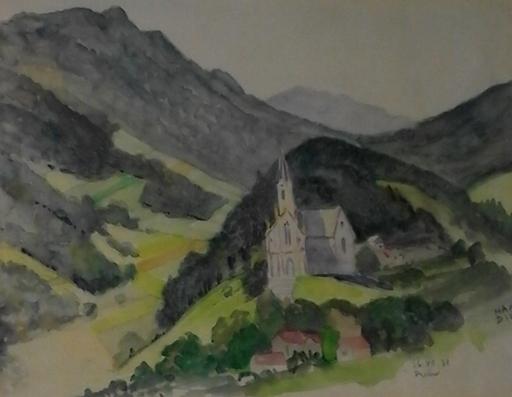 Hanns DIEHL - Pintura - Kirche bei Prein