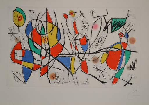 Joan MIRO - Druckgrafik-Multiple - D480 L'Invitee Du Dimanche