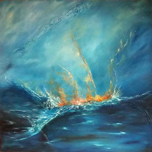 Fabienne RIBEYROLLES - Peinture - Or bleu