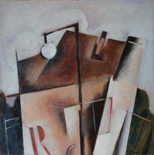 Alberto MANFREDI - Pittura - Casa di Praga col lampione