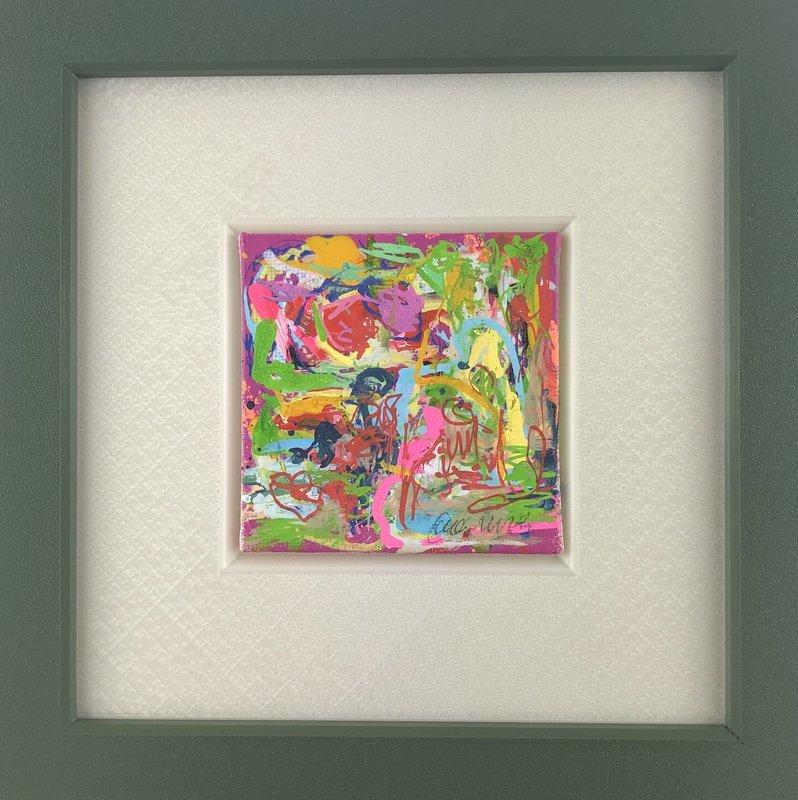 Nicole LEIDENFROST - Gemälde - Unter Palmen